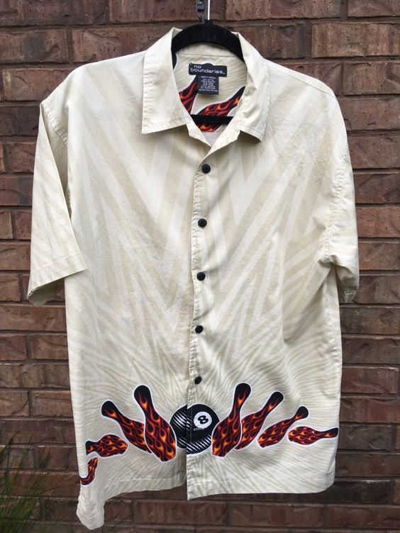 Men's Bowling Pins Shirt, Size M by JustClickThreeTimes on Etsy