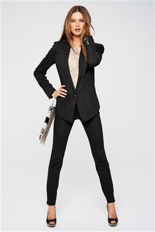 black #suit for #women | Suits for Work | Pinterest | Interview