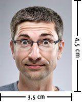 Größe eines biometrischen Passfotos, Seitenverhältnis in Pixeln