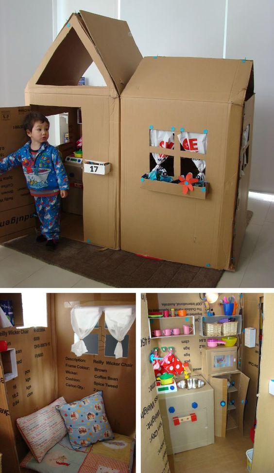Amazing cardboard playhouse!!