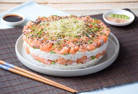 Ma trouvaille - Sushi cake