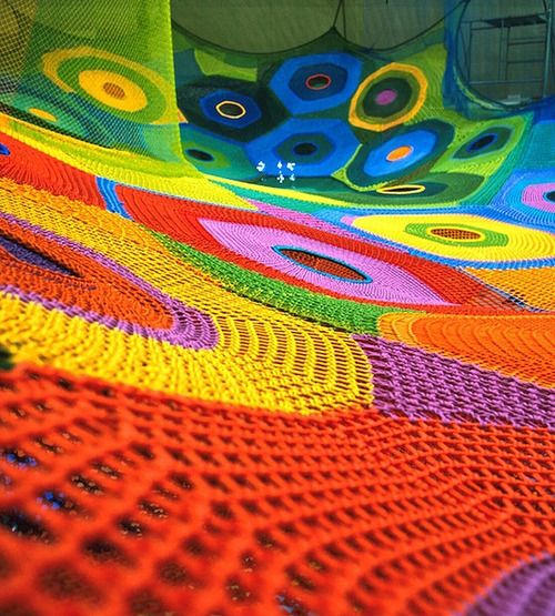 interactive Crocheted Playgrounds // Toshiko Horiuchi-McAdam