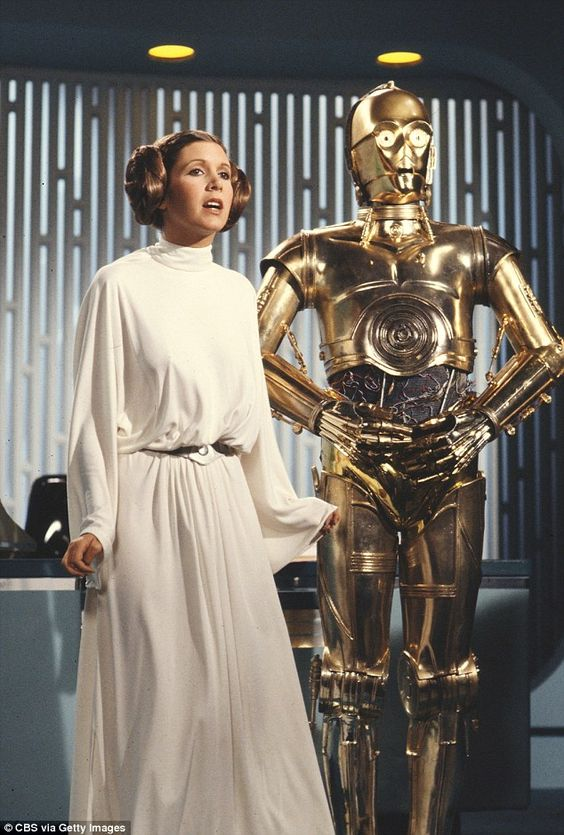 Star Wars: They looked similar to those worn by Princess Leia in the 1977 film - who was played by Carrie Fisher