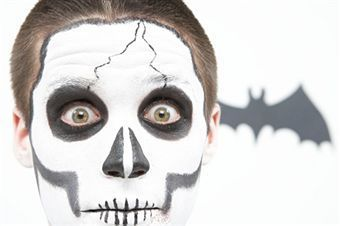 stepbystep guide to make skeleton face painting