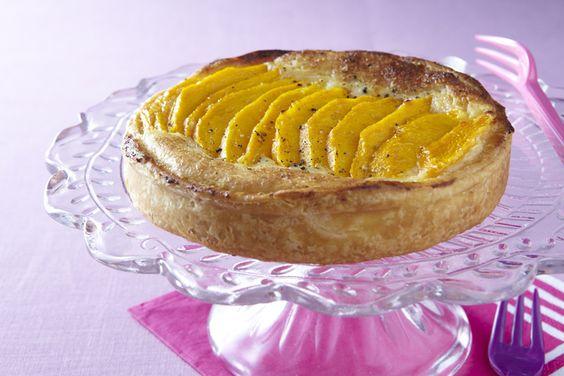 Tarte à la mangue et au mascarpone légèrement poivrée