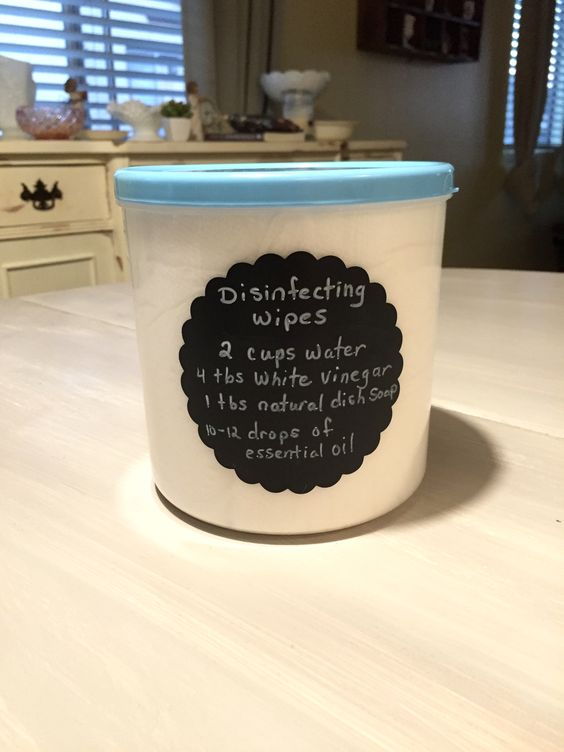 Home made disinfecting wipes
