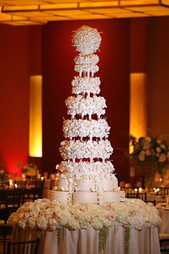 One of the most outrageous wedding cakes ever. This guy is 7 feet tall! By Montilio's Bakery in Massachusetts