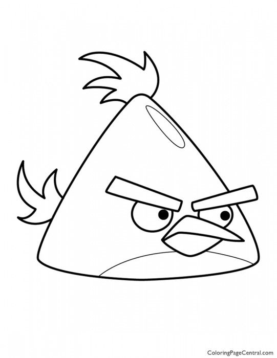 Angry Birds Chuck The Yellow Bird 01 Coloring Page Chuck Angry