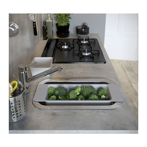 Ekbacken Countertop Light Gray Concrete Effect Laminate 98x1 1 8 Diy Kitchen Countertops Replacing Kitchen Countertops Countertops