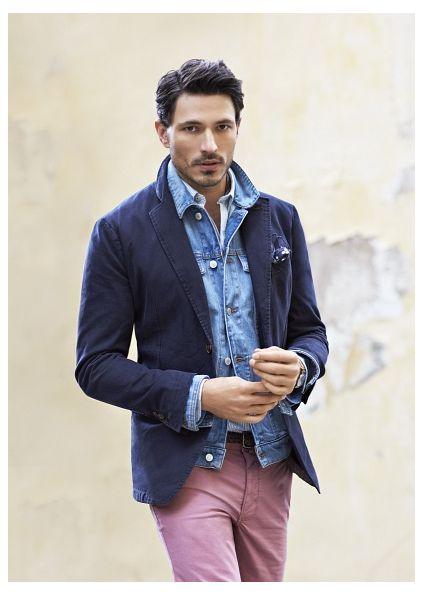 A Blue Jacket - Coat Nj