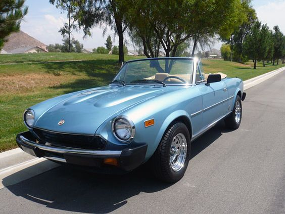1980 Fiat 2000 Spider.  In 1992 I almost bought one of these in black.  Instead I bought my practical 1992 F150 that I drove for 17 years.