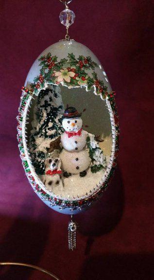 Pin By Susan Fee On Decorative Eggs Diy Christmas Ornaments Egg