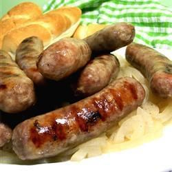 Bratwurst sausages and homemade on pinterest for How to cook cumberland sausage ring