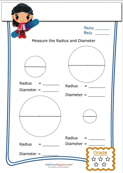 Printables Radius And Diameter Worksheets basic geometry worksheet radius and diameter 3 math worksheets cool math