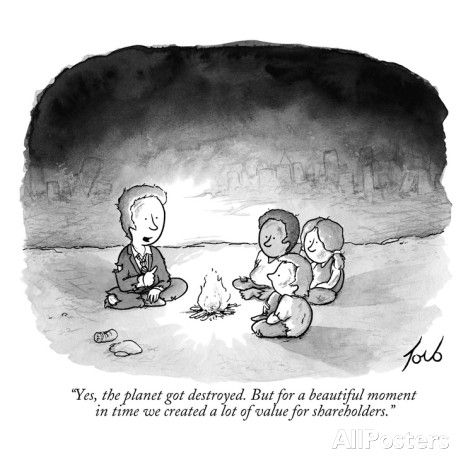 "Pax on both houses: New Yorker Cartoon: ""Yes, the planet got destroyed, but..."":"