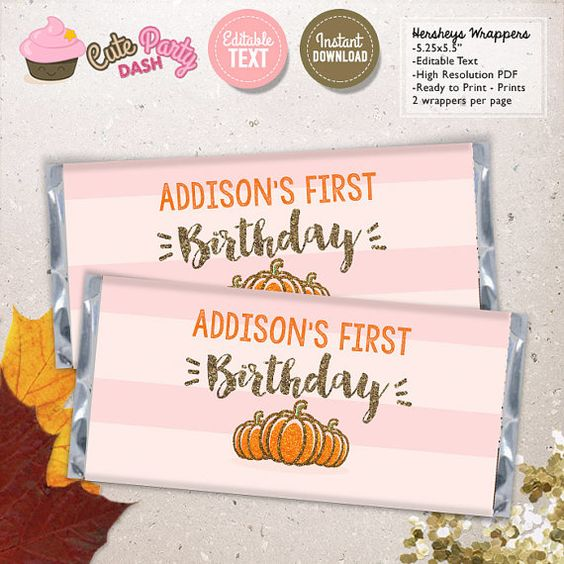 INSTANT DOWNLOAD  EDITABLE Pink and Gold Little by CutePartyDash
