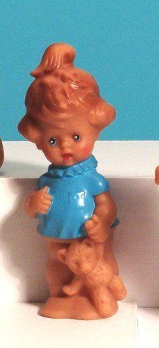Schildkröt, nostalgische Quietschpuppe, Mädchen mir Bär: Amazon.de: Spielzeug