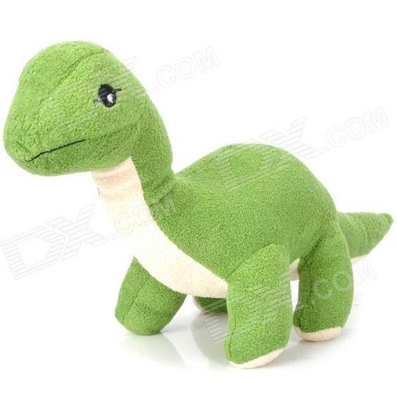 Cute Short Plush Fabric Dinosaur Style Toy Doll - Green
