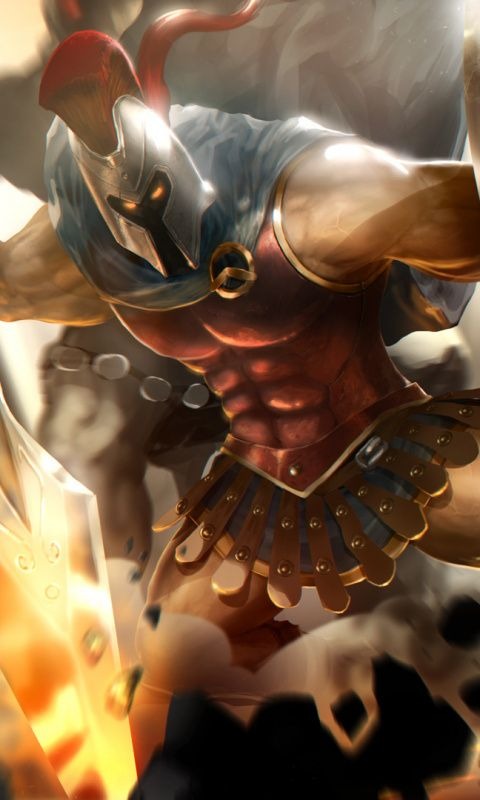 Pantheon, League of Legends, warrior, 480x800 wallpaper