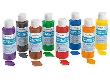 Washable Liquid Watercolors Set Of 8 Liquid Watercolor