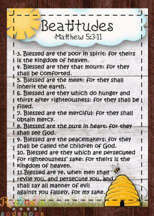 Primary 7 Lesson 10: The Sermon on the Mount, Beatitudes - Rachael's BookNook