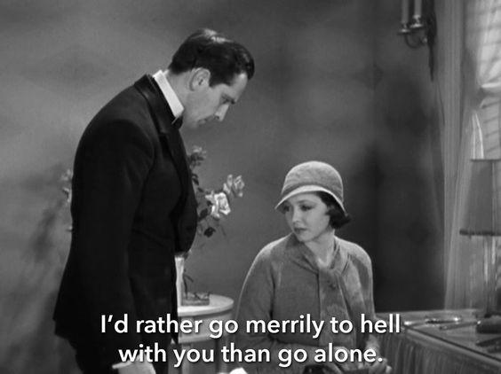 """Résultat de recherche d'images pour """"merrily we go to hell (1932)"""""""