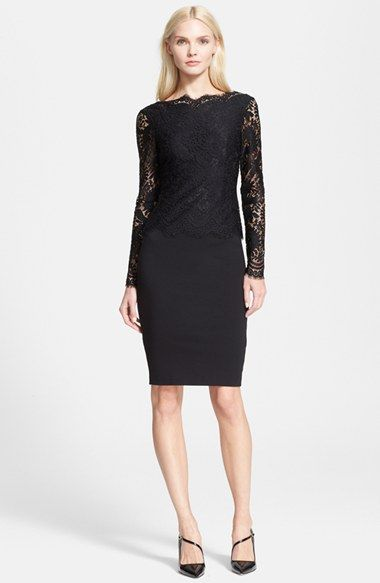 Ted Baker London 'Vendela' Lace Bodice Sheath Dress available at #Nordstrom