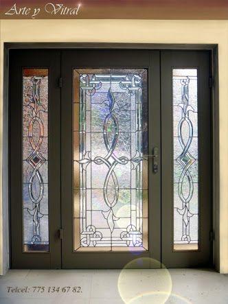 Puertas y ventanal con vitral buscar con google - Puertas con cristales biselados ...