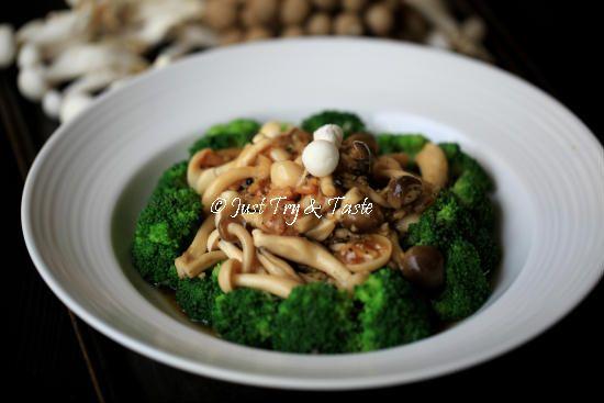 Resep Brokoli Siram Jamur Bawang Putih Brokoli Resep Jamur