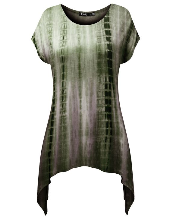 Thanth Womens Comfy Tie Dyed Loose Tunic Top With Various Hem at Amazon Women's Clothing store: