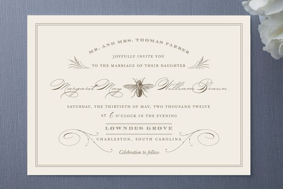 honeybee invitation from Minted