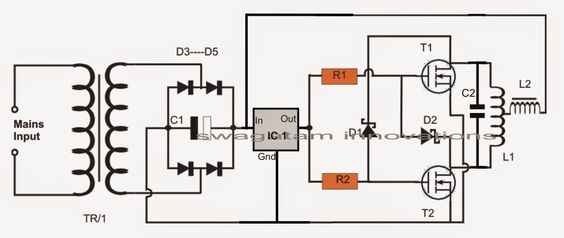 the proposed induction heater circuit exhibits the use of high frequency magnetic induction