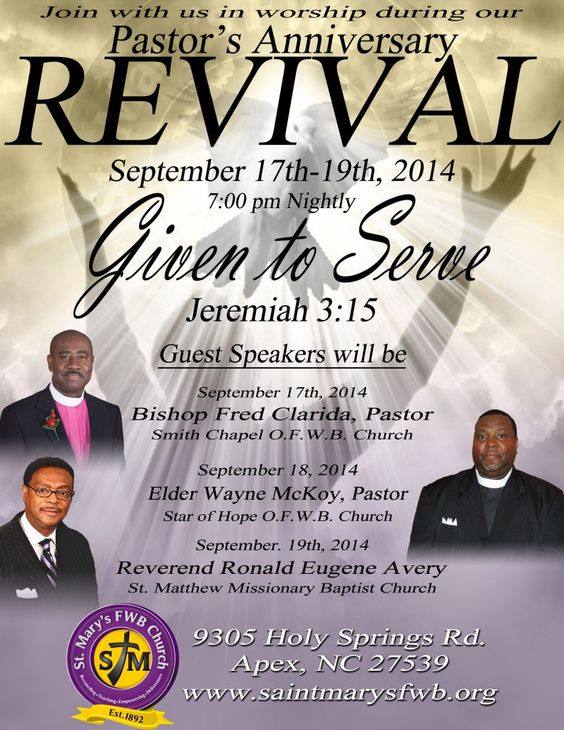Church revival flyers revival flyer hoz print ideas for Free church revival flyer template