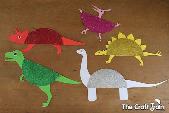 Manualidades para niños con dinosaurios