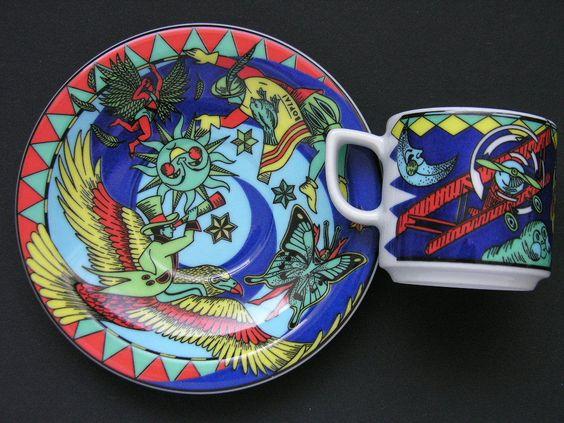 BOPLA Demi Cup & Saucer * AERONAUTE & IKARUS * Series Voyage - Langenthal • $20.00