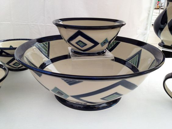 #pottery by Monica Johnston at #Toronto Outdoor #Art Exhibit via http://lifeovereasy.com/ #tableware