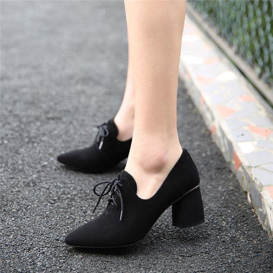 Modest Women Black Shoes