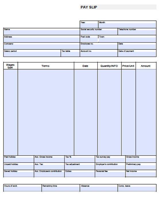 whether Check Stub Template an employee receives paychecks via - payroll stub template free