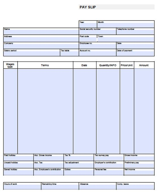 check stub template free – Payroll Stubs Templates