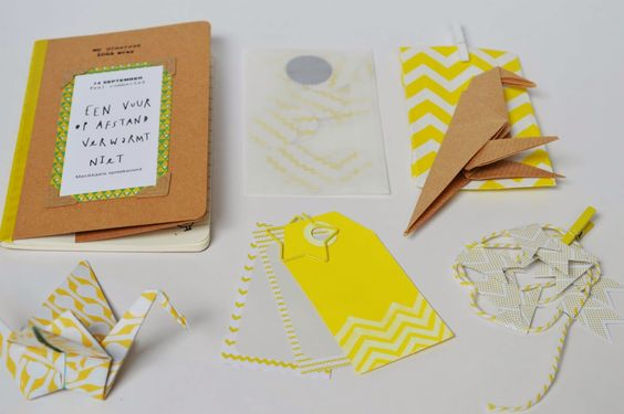 Vier Vandaag!: Snail mail: geel & chevron