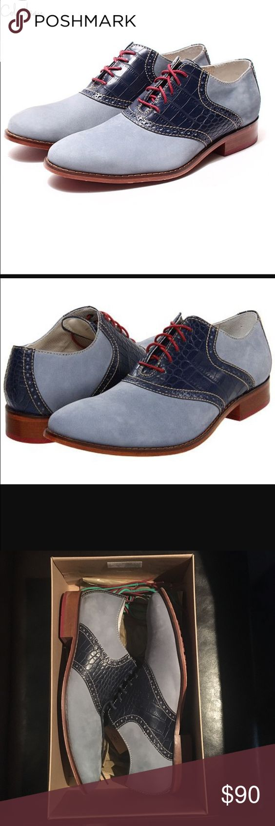 Men's Cole Haan Air Colton Saddle Blue/Navy Cole Haan Saddle.. In good condition.. Includes extra pair of strings..❎No Trades.. Thanks Cole Haan Shoes Flats & Loafers