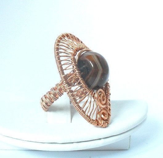 Hey, I found this really awesome Etsy listing at https://www.etsy.com/listing/151938405/chunky-wire-wrapped-woven-copper-ring