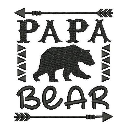 Papa Bear F506 2 Bear Template Papa Bear Machine Embroidery Designs