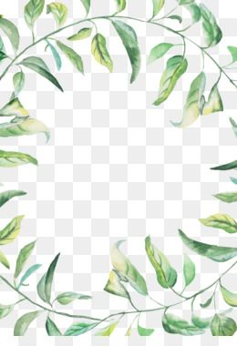 Leaves Png Leaves Transparent Clipart Free Download Watercolor Painting Sunlight Wallpaper Ink Water Watercolor Border Flower Border Png Green Watercolor