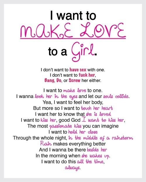 A Love To I Want Girl
