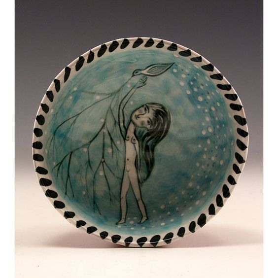 Natural in Nature  Painting in Ceramic Pinched by jennymendes