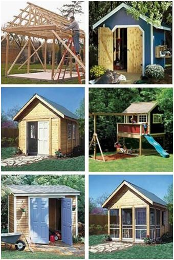 Playhouse Garden Shed Plans : Build your own storage shed lean to garden