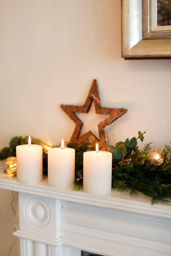 the white company christmas garland, hanging star from the white company