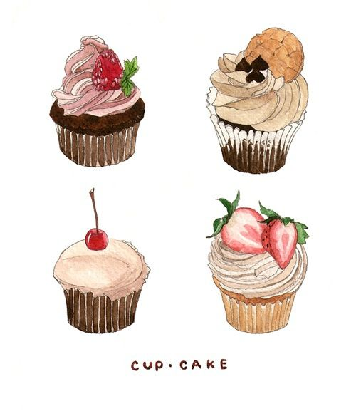 Artist Who Draws Cake : illustration?Food drawing? Food Prints Pinterest ...