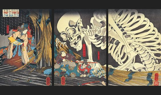 * The Princess Takiyasha invoking a monstrous skeleton in the former Palace Sōma  1845-1846  - Utagawa Kuniyoshi (1797-1861)
